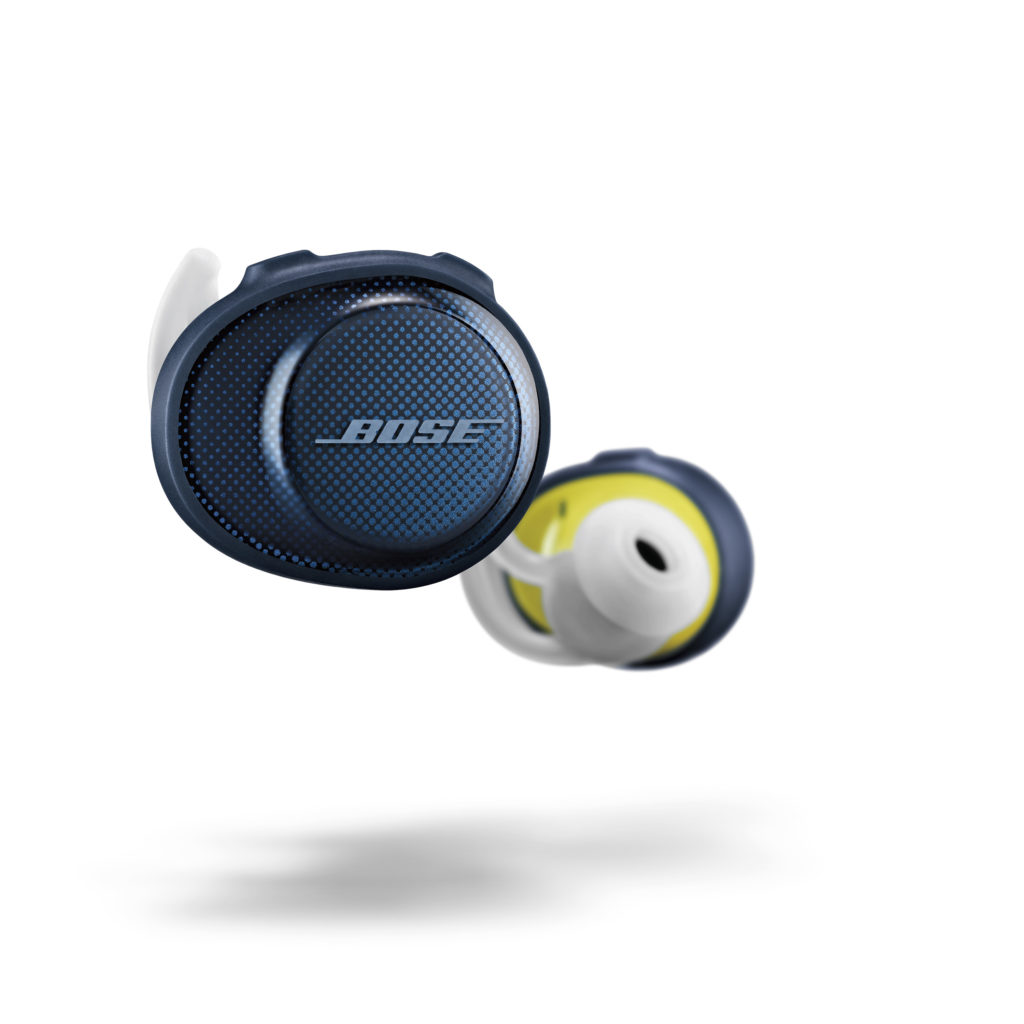 SoundSport Free Wireless Headphones Midnight Blue Yellow Citron